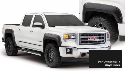 Bushwacker - Bushwacker Fender Flares, GMC (2014-15) 1500 Fender FlareSet of 4Onyx Black(Pocket Style)