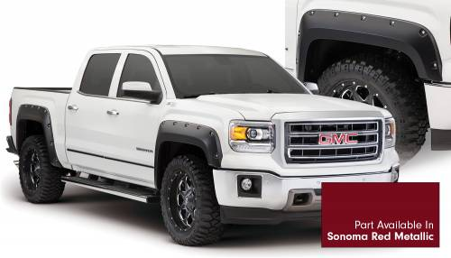 Bushwacker - Bushwacker Fender Flares, GMC (2014-15) 1500 Fender FlareSet of 4Sonoma Red Metallic(Pocket Style)