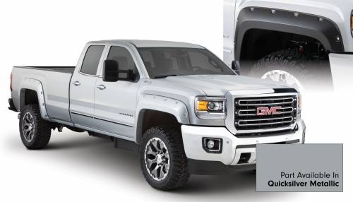 Bushwacker - Bushwacker Fender Flares, GMC (2015) 2500/3500 Fender FlareSet of 4Quicksilver Metallic(Pocket Style)