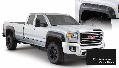Bushwacker - Bushwacker Fender Flares, GMC Boss (2015) 2500/3500 Fender Flare Set of 4 Onyx Black(Pocket Style)
