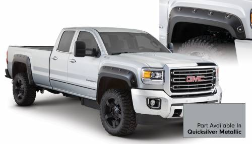 Bushwacker - Bushwacker Fender Flares, GMC Boss (2015) 2500/3500 Fender FlareSet of 4Quicksilver Metallic(Pocket Style)