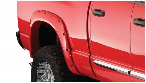 Bushwacker - Bushwacker Fender Flares,Dodge (2006-08) 1500 (2006-09) 2500/3500 Fender Flare Rear Pair (Pocket Style)