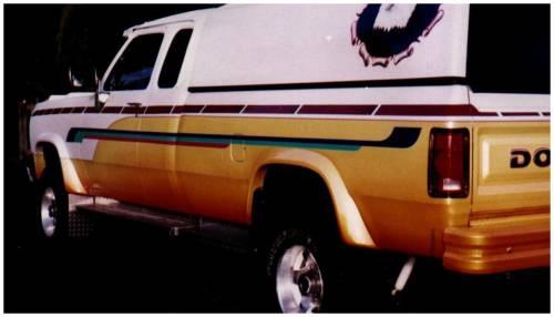 Bushwacker - Bushwacker Fender Flares,Dodge (1981-93) D50/D150/D250/D350/Ramcharger Set of 4(Extend-A-Fender Flare)