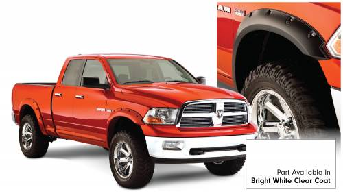 Bushwacker - Bushwacker Fender Flares,RAM (2011-14) 1500 Fender FlareSet of 4Bright White Clear Coat(Pocket Style)