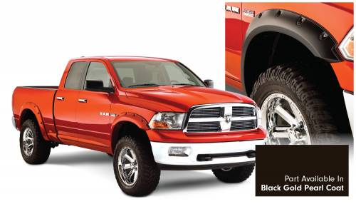 Bushwacker - Bushwacker Fender Flares,RAM (2011-14) 1500 Fender FlareSet of 4Black Gold Pearl Coat(Pocket Style)