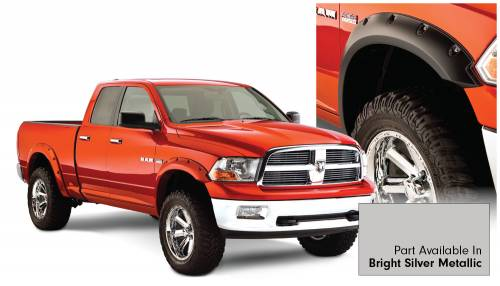 Bushwacker - Bushwacker Fender Flares,RAM (2011-14) 1500 Fender FlareSet of 4Bright Silver Metallic(Pocket Style)