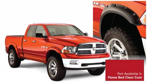 Bushwacker - Bushwacker Fender Flares,RAM (2011-14) 1500 Fender FlareSet of 4Flame Red Clear Coat(Pocket Style)