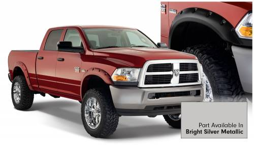 Bushwacker - Bushwacker Fender Flares,RAM (2010-14) 1500/2500/3500/4500/5500 Fender FlareSet of 4Bright Silver Metallic(Pocket Style)