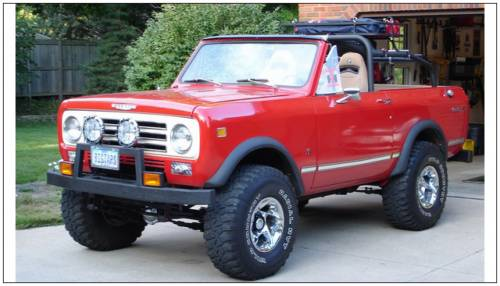 Bushwacker - Bushwacker Fender Flares,International (1972-80) Scout II Front Pair(Extend-A-Fender Flare)