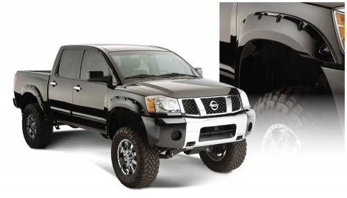 Bushwacker - Bushwacker Fender Flares,Nissan (2004-14) Titan Fender Flare Rear Pair(Pocket Style)