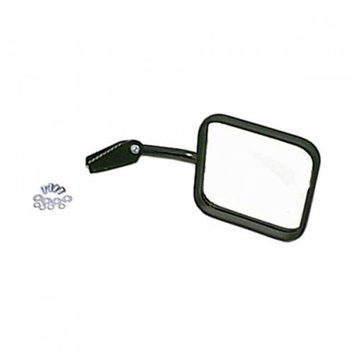 Rugged Ridge - Mirror and Arm, Black, Right Side; 55-86 Jeep CJ Models