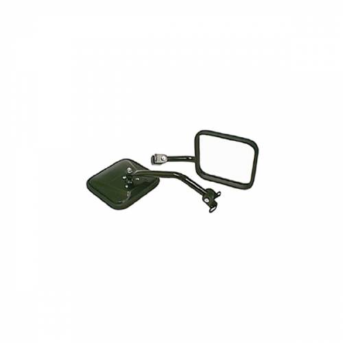Rugged Ridge - Rugged Ridge CJ-Style Side Mirror Kit, Black (1987-95) Jeep Wrangler YJ