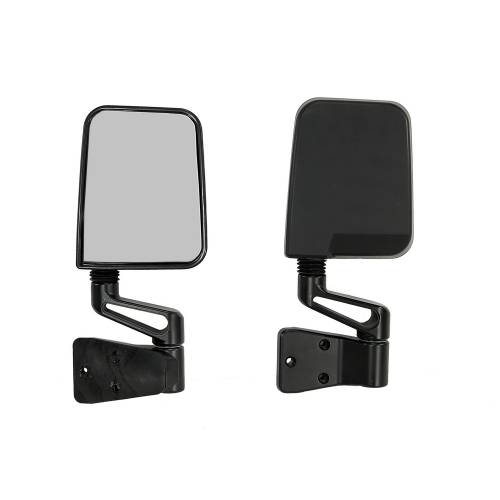 Rugged Ridge - Rugged Ridge Door Mirror Kit, Black (1987-02) Jeep Wrangler