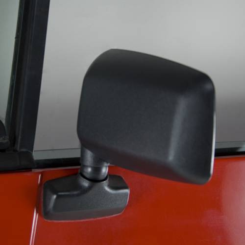 Rugged Ridge - Rugged Ridge Door Mirror, Black, Left Side (1987-95) Jeep Wrangler YJ