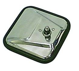 Rugged Ridge - Rugged Ridge CJ-Style Mirror Head, Stainless Steel, Left (1955-86) Jeep CJ Models