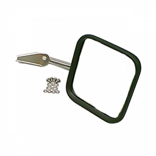 Rugged Ridge - Rugged Ridge CJ-Style Mirror Head and Arm, Chrome, Right Side (1955-86) Jeep CJ Models