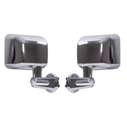 Rugged Ridge - Rugged Ridge Door Mirror Kit, Chrome (2007-15) Jeep Wrangler JK