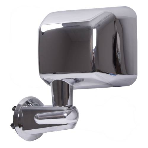Rugged Ridge - Rugged Ridge Door Mirror, Chrome, Left (2007-15) Jeep Wrangler JK