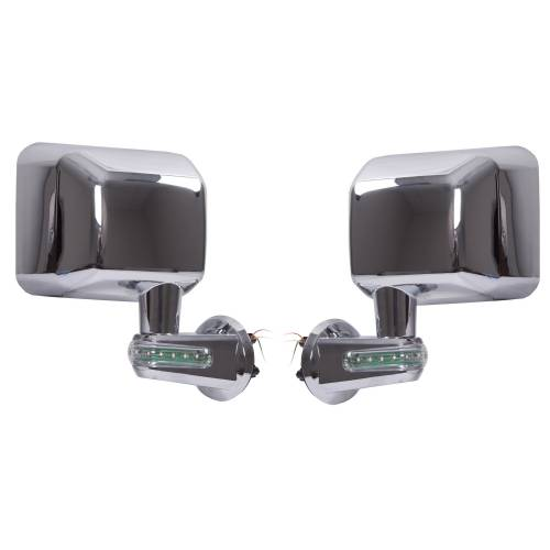 Rugged Ridge - Rugged Ridge Door Mirrors with LED Turn Signals, Chrome (2007-15) Jeep Wrangler JK