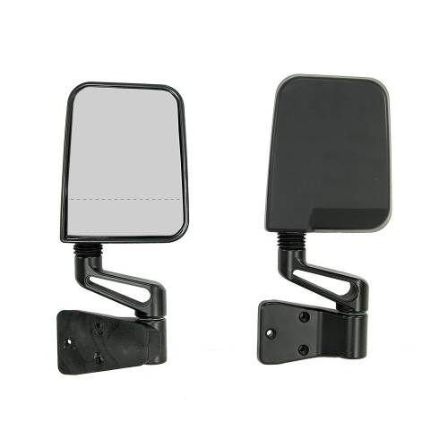 Rugged Ridge - Rugged Ridge Door Mirror Kit, Dual Focus, Black (1987-02) Jeep Wrangler