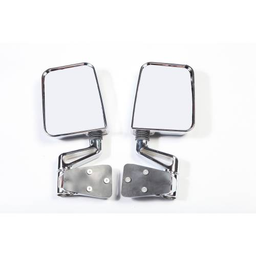 Rugged Ridge - Rugged Ridge Door Mirror Kit, Dual Focus, Chrome (1987-02) Jeep Wrangler