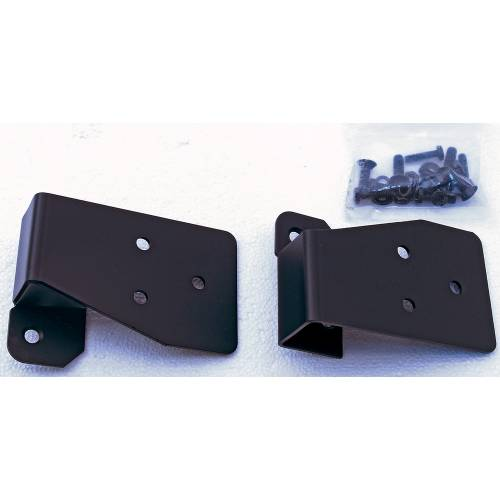 Rugged Ridge - Mirror Relocation Brackets, Black; 03-06 Jeep Wrangler TJ