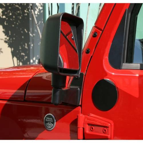 Rugged Ridge - Mirror Relocation Brackets, Black; 07-15 Jeep Wrangler JK