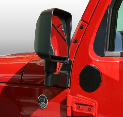 Rugged Ridge - Mirror Filler Plates, Pair; 07-15 Jeep Wrangler JK