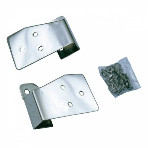 Rugged Ridge - Mirror Relocation Brackets, Stainless Steel; 03-06 Jeep TJ/LJ Wrangler