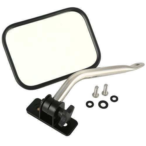 Rugged Ridge - Quick Release Mirror Relocation Kit, Stainless; 97-15 Jeep Wrangler