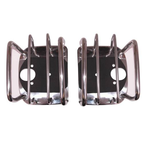 Rugged Ridge - Rugged Ridge Tail Light Euro Guards, Stainless Steel (1976-06) Jeep CJ/Wrangler