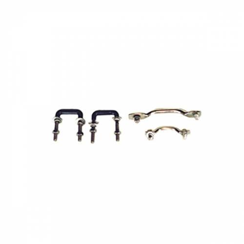 Rugged Ridge - Rugged Ridge Windshield Tie Down Kit, Stainless Steel (1955-95) Jeep CJ/Wrangler