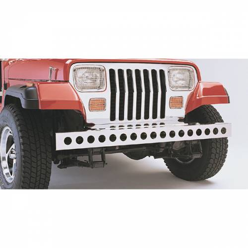 Rugged Ridge - Rugged Ridge Stainless Steel Front Bumper (1987-95) Jeep Wrangler YJ