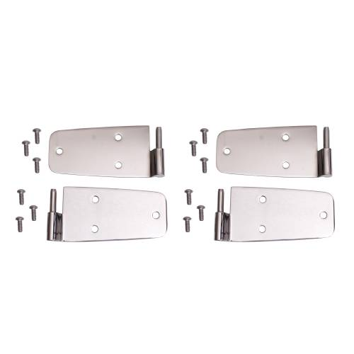 Rugged Ridge - Rugged Ridge Door Hinge Kit, Stainless Steel (1976-93) Jeep CJ/Wrangler YJ
