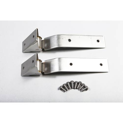Rugged Ridge - Rugged Ridge Tailgate Hinges, Stainless Steel (1987-95) Jeep Wrangler YJ