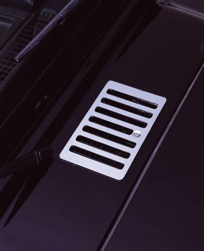 Rugged Ridge - Rugged Ridge Cowl Vent Cover, Stainless Steel (1998-06) Jeep Wrangler TJ