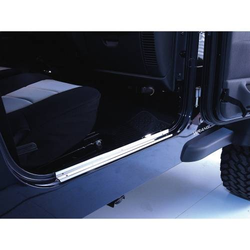 Rugged Ridge - Rugged Ridge Door Entry Guards, Stainless Steel (1997-06) Jeep Wrangler TJ