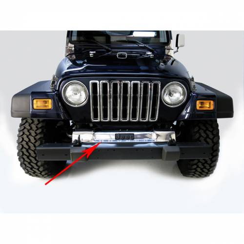 Rugged Ridge - Front Frame Cover, Stainless Steel; 97-06 Jeep Wrangler TJ