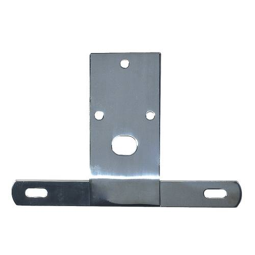 Rugged Ridge - License Plate Bracket, Stainless Steel; 76-86 Jeep CJ Models