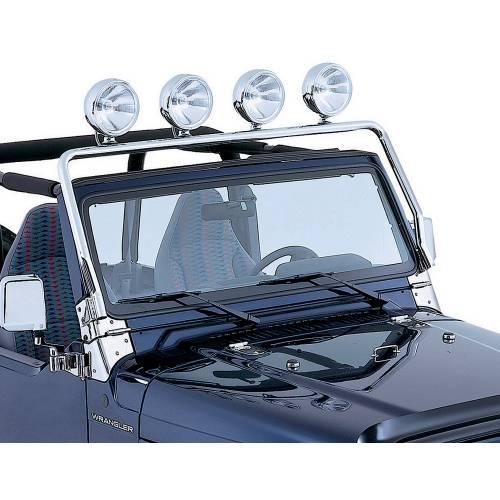 Rugged Ridge - Full Frame Light Bar, Stainless Steel; 97-06 Jeep Wrangler TJ