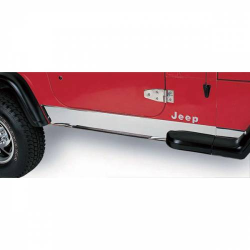 Rugged Ridge - Rocker Panel Cover, Stainless Steel; 97-06 Jeep Wrangler TJ