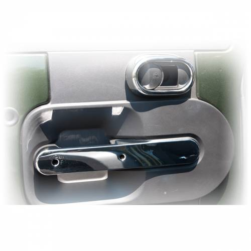 Rugged Ridge - Rear Door Handle Trim, Chrome; 07-10 Jeep Wrangler Unlimited JK