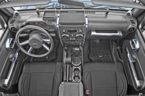 Rugged Ridge - Interior Trim Accent Kit, Chrome; 07-10 Jeep Wrangler Unlimited JK