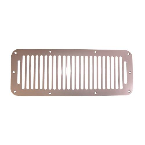 Rugged Ridge - Rugged Ridge Cowl Vent Cover, Satin Stainless Steel (1978-95) Jeep CJ/Wrangler YJ