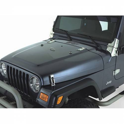 Rugged Ridge - Rugged Ridge Complete Hood Kit, Satin Stainless Steel (1998-06) Jeep Wrangler TJ