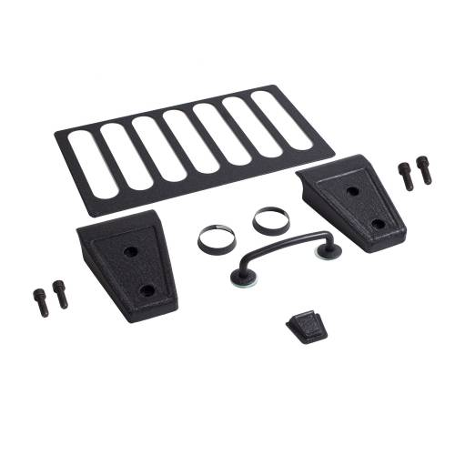 Rugged Ridge - Hood Dress Up Kit, Textured Black; 07-12 Jeep Wrangler JK