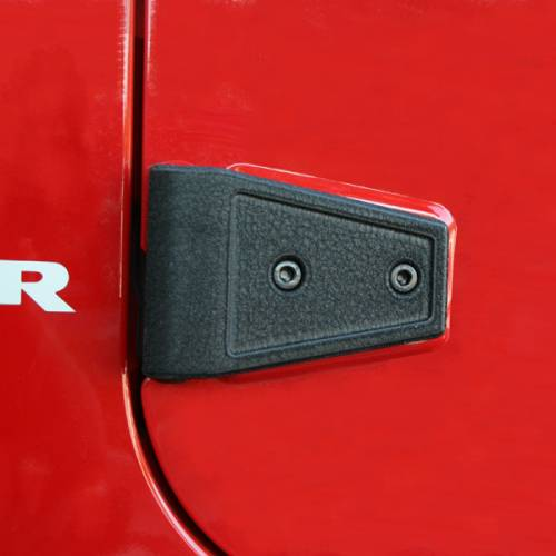 Rugged Ridge - Rugged Ridge Door Hinge Cover Kit, Black (2007-15) Jeep Wrangler Unlimited JK
