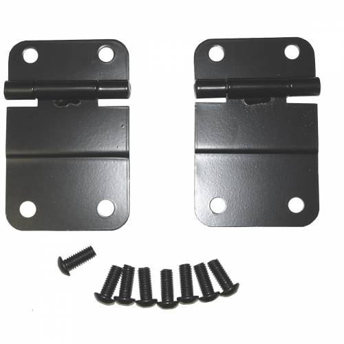 Rugged Ridge - Lower Tailgate Hinge Set, Black; 76-86 Jeep CJ Models