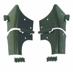 Rugged Ridge - Rugged Ridge Windshield Hinges, Black (1997-06) Jeep Wrangler TJ