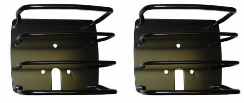Rugged Ridge - Rugged Ridge Euro Tail Light Guards, Black (1976-06) Jeep CJ/Wrangler YJ/TJ